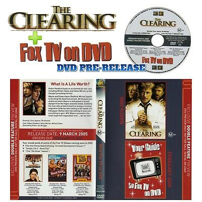 Pre-Release Promo ✨ THE CLEARING + FOX TV ON DVD ✨ (DVD, R4)  **AS NEW**