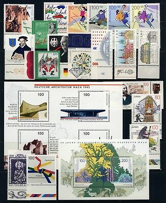 GERMANY . 1997 Commemorative Year Set (45 stamps, 5 sheets) . Mint Never Hinged