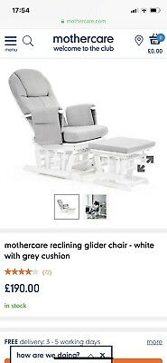 Mothercare Nursing Glider Chair With Footstool
