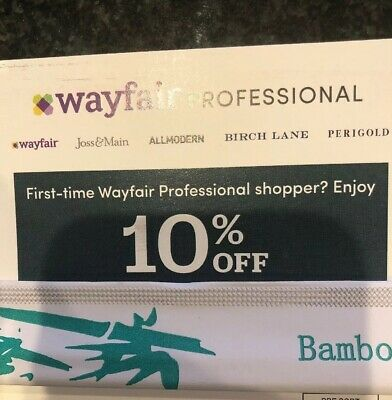 WAYFAIR Professional 10% off Promo Code Coupon FIRST TIME ORDER Exp 5/18/19
