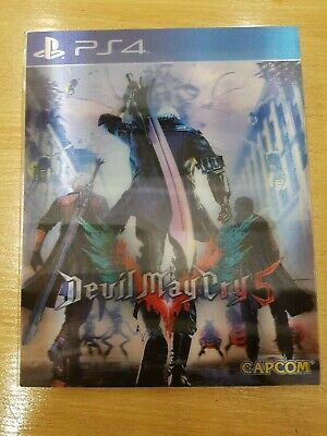 Devil May Cry 5 DMC 3D Motion Card cover only PS4 Sony playstation 4 NO GAME