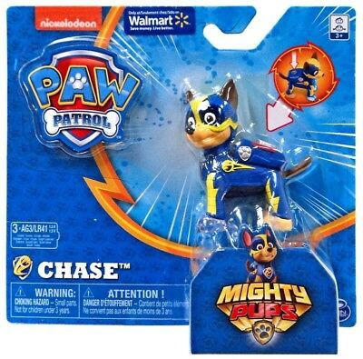 Paw Patrol Mighty Pups Chase Exclusive Figure New