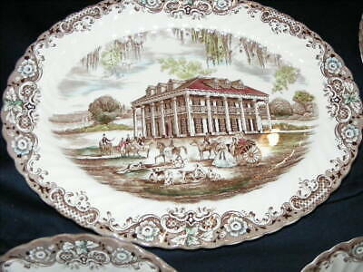 JOHNSON BROTHERS china HERITAGE HALL Meat serving plate and 2 serving Bowls