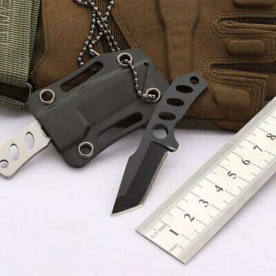 EDC Mini Double Edge Dagger Fixed Blade Neck Knife Outdoor Camping Survival New