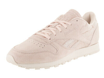 476bd8f9257 Reebok Women s Classic Leather Shimmer Pale Pink Matte Silver Chalk Casual  Shoe