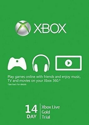 Xbox Live Gold 14 Days 2 Weeks Trial Code