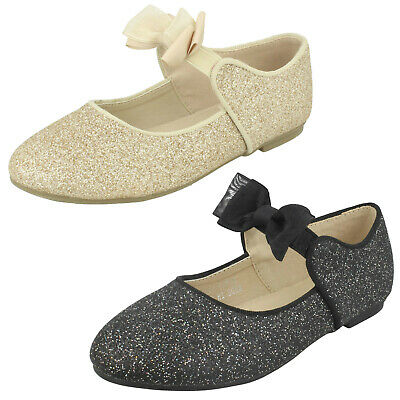 WHOLESALE Girls Bow Trim Ballerinas / Sizes 6-12 / 16 Pairs / H2W537