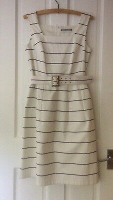 Elegant Marks and Spencer Black and White striped dress 10. Races, Wedding Guest