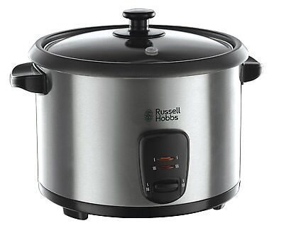 Russell Hobbs Rice Food Cooker Steamer 19750 Silver Stainless Steel 1.8L - NEW
