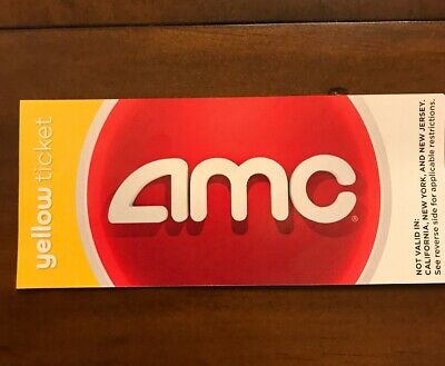 Yellow  AMC MOVIE THEATER PASSES / TICKETS - NO EXPIRATION DATE