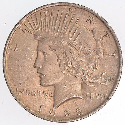 1922 Peace Dollar Circulated US Mint Silver Coin