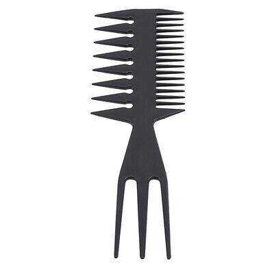 Useful Plastic Comb Heatresistant Salon Thin Teeth Three-sided Hair Care Comb LH