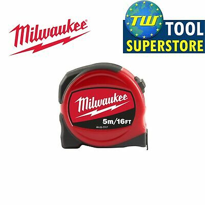 Milwaukee 5m/16ft Slimline Pro Compact Tape Measure – Imperial and Metric