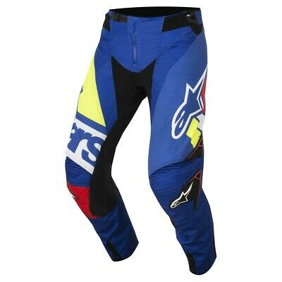 Alpinestars Techstar Factory Trousers Fluo Yellow Blue White New RRP £169.99!!