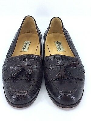 de06a94407 Bragano Cole Haan Mens Genuine Brown Crocodile Tassel Loafers Dress Shoes  Sz 9 N