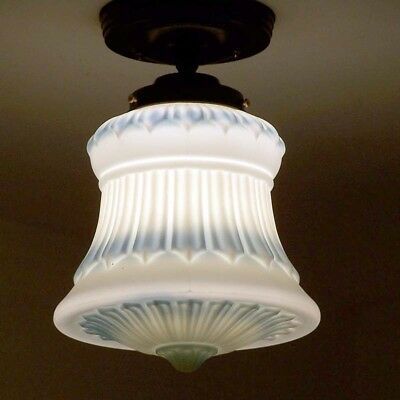797 Vintage Antique Ceiling Light Glass Lamp Fixture Porch Hall  Larger size