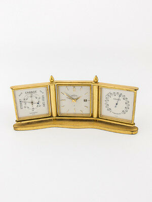 Angelus table clock with 8 days movement, alarm,calendar + weather station, 50´s