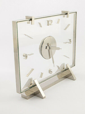 Rare Jaeger- LeCoultre table clock with 8 day movement, art deco, 1940´s