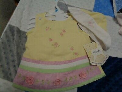 Baby Girls 3 Piece Summer Outfit By Little Bitty 3/6 Months Nwt