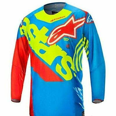Alpinestars Techstar Venom Jersey Fluo Yellow Blue Red New RRP £49.99!!