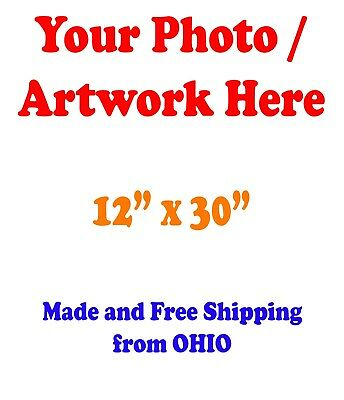 "12x30"" GLOSSY Custom Printed your Photo Poster Image Enlargement"
