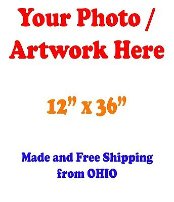 "12x36"" GLOSSY Custom Printed your Photo Poster Image Enlargement"