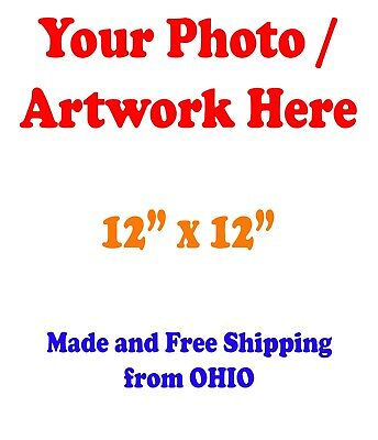 "12x12"" GLOSSY Custom Printed your Photo Poster Image Enlargement"