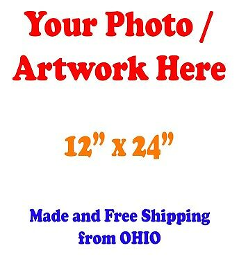 "12x24"" GLOSSY Custom Printed your Photo Poster Image Enlargement"