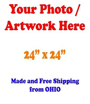 "24x24"" GLOSSY Custom Printed your Photo Poster Image Enlargement"