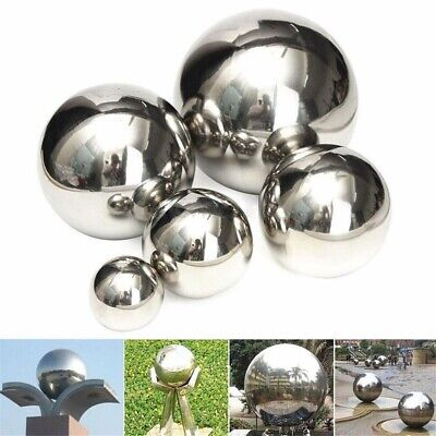 5-15cm Stainless Steel Mirror Polished Sphere Hollow Round Ball Garden Ornament