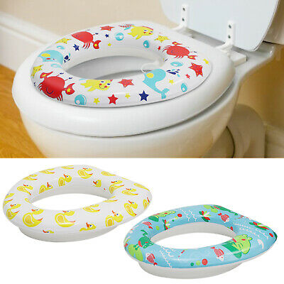 Kids Trainer Seat Soft Padded Toilet Toddler Potty Pee Training Children Baby