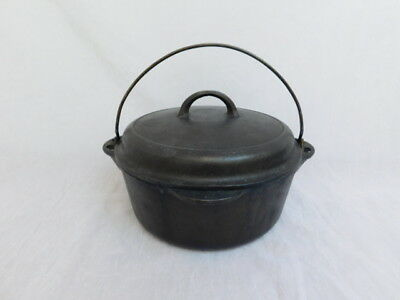 Griswold Cast Iron Dutch Oven 8 1278 Set Lid 1288B Self Basting Tite-Top