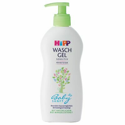 Hipp Shower Wash Gel for Skin Hair Gently Cleans Delicately Sensitive Skin 400ml