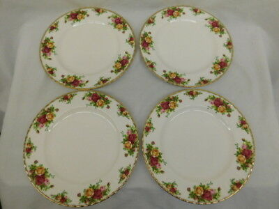 Royal Albert Old Country Roses 10.5 Inch Dinner Plates Set Of 4