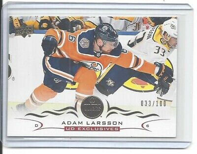 2018-19 Upper Deck Series 2 Adam Larsson Ud Exclusives #/100 Nhl Edmonton Oilers