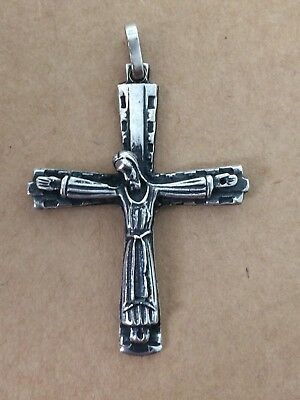 Beautiful & Antique  Holy Cross Crucifix  Sterling Silver 925 Solid