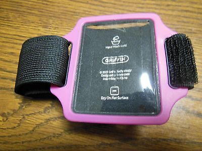 Apple Ipod Armband Holder Griffin Brand Pink