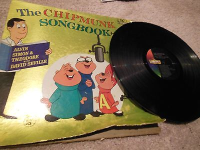 Vintage Collectible The Chipmunk Songbook 14 Songs Liberty Records 33 1/3 Rpm