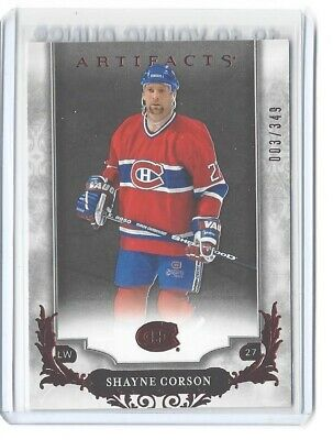 2018-19 Artifacts #150 Shayne Corson Red Parallel #/349 Nhl Montreal Canadiens