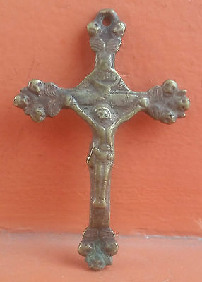 Beautiful Style  Colonial Holy Cross,Crucifix Of Bronze Old