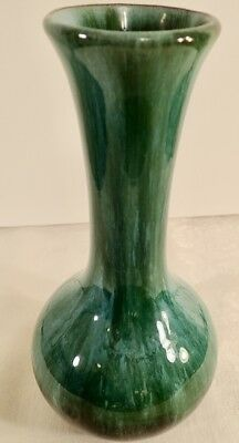 "Blue Mountain Pottery Canada BMP Medium sz Vase with Green Drip Glaze 8 1/2"" MCM"
