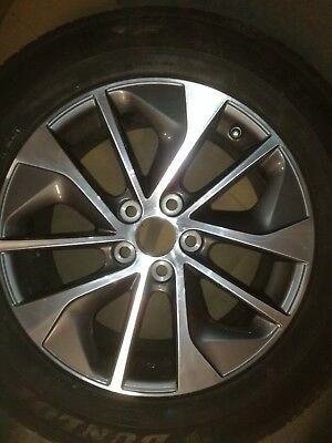"""TOYOTA 1X 17"""" ALLOY WHEEL WITH TYRE 17X7J39 1710171434A cheap alloy 225/65 R17"""