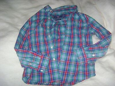 Vineyard Vines Boy's 3T All Cotton Flannel Button Down Whale Shirt In Exc.cond.!