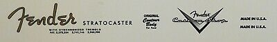 Fender Stratocaster Restoration Waterslide Decal SET
