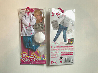 Barbie Career Fashion Bakery Cupcake Chef Outfit Original New CHJ30 Mattel Doll