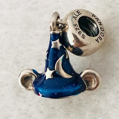 79562160697 Authentic Genuine Pandora Disney Mickey s Sorcerer s Hat charm