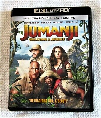 Jumanji - 4K Ultra HD Movie - Blu-Ray - Digital Code Is Good - Watched Once