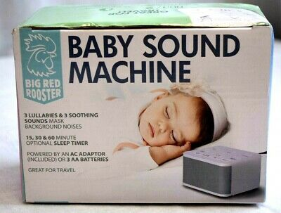 Big Red Rooster BRRC129 Baby Sound Machine with 3 Lullabies & 3 Sounds White NOB