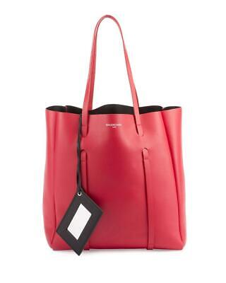39a1e12272fc5a NEW BALENCIAGA EVERYDAY Small Red Leather Tote $1185 - $899.00 ...
