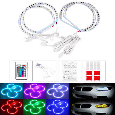 For BMW(R) RGB LED Angel Eye Light Halo Ring E46 coupe 2D Non Projector Model